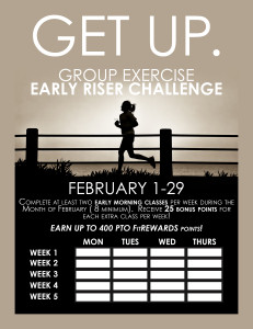 Early Riser Challenge